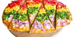 طريقة عمل بيتزا قوس قزح بالخطوات