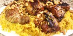 طريقة عمل الكبسة باللحم أو الدجاج في المنزل مثل المطاعم