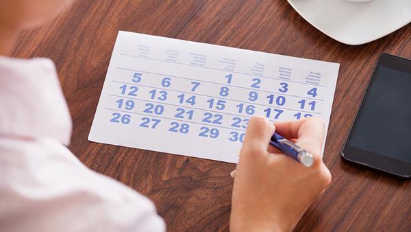 طريقة حساب الدورة الشهرية