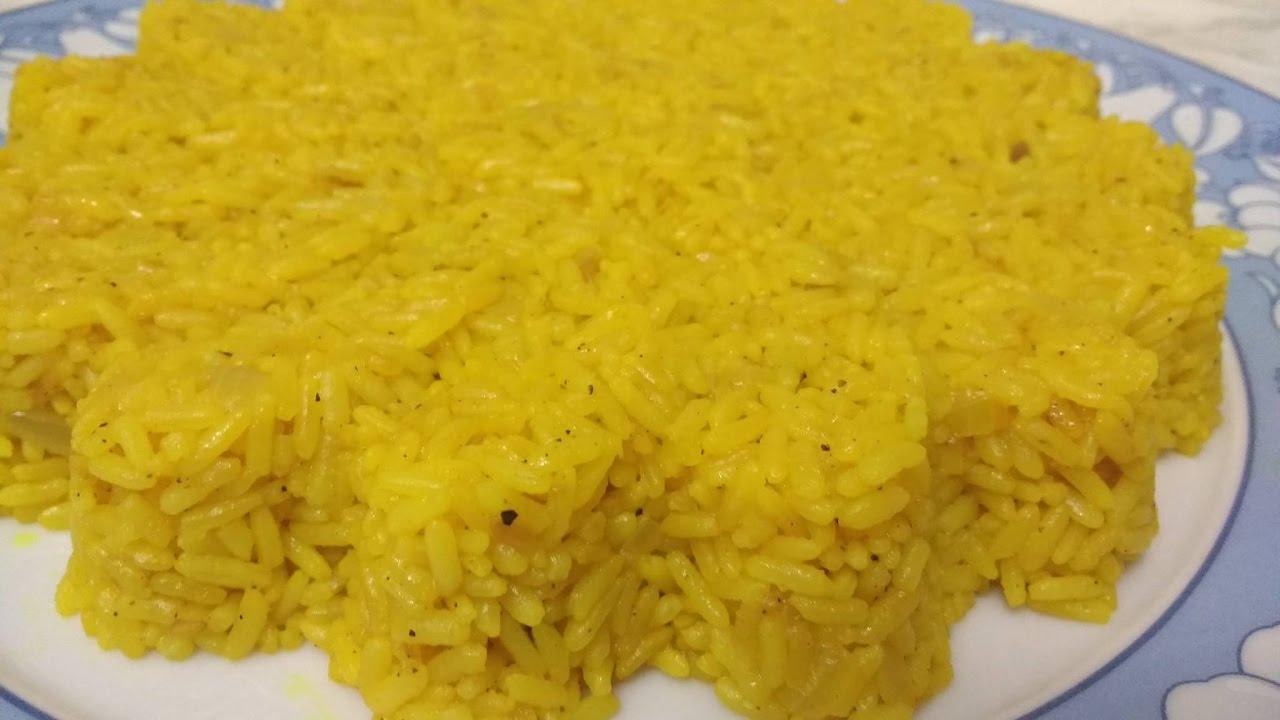 طريقة عمل الأرز الأصفر زى المطاعم
